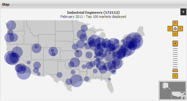 WANTEDs Top 10 Best Places For Industrial Engineers To Look For Work - Where Are The Industrial On The Us Map
