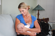 The Freemie system's natural shape allows moms to simultaneously breastfeed and pump