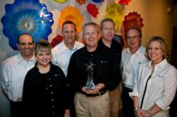 The Inspirus Leadership Team with the Delta Supplier Diversity Star Award