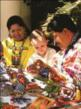 Child Doing Arts & Crafts with the Local Huichol Indians