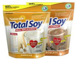 Naturade® Total Soy® new Chocolate and Vanilla formulas were launched in September 2010, boasting 47% less sugar, fewer carbs per serving and a great new taste.