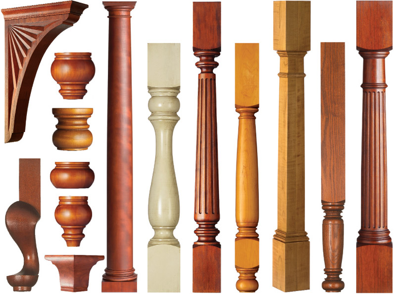 Wood Column Table Legs