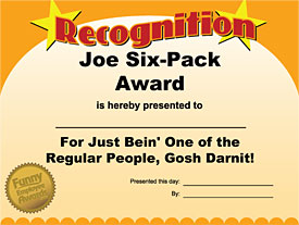 Funny Employee Awards Joe