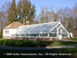 Straight eave, double pitch greenhouse from I-Beam system