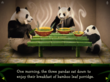The Three Pandas iPad & iPhone Storybook Screenshot