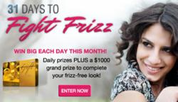 Frizz Free Hairstyle product giveaway for curly hair