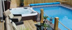 Space Saving Pool and Hot Tub Design