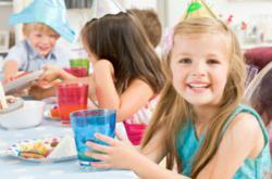 Kids celebrating a birthday party