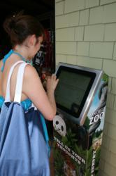 Avius Insight Kiosk at The San Diego Zoo.