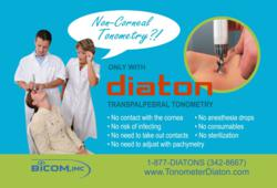 Tonometer Diaton Tonometry through eyelid Diaton handheld tonometer
