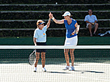Train with three-time grand slam singles champion and former World #1 ranked Lindsay Davenport.