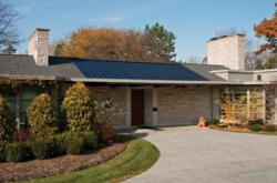 EnerGenTM Photovoltaic Solar Power Roofing System installed on a home.