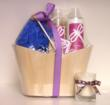 Lavender Gift Basket with free soy candle votive