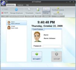 Employee time and attendance tracking software