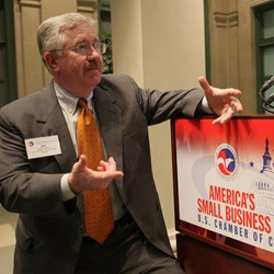 Blasingame moderating panel at U.S. Chamber Small Business Summit