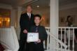 Second Place Winner Yukai Hong, Vancouver, Canada, and teacher Ted Fung