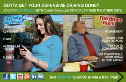 comedy guys defensive driving classes, get mobile giveaway photo caption contest