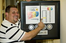 Nutricap Labs President and Founder, Jason Provenzano, showing off his 2012 Inc. 500 | 5000 award