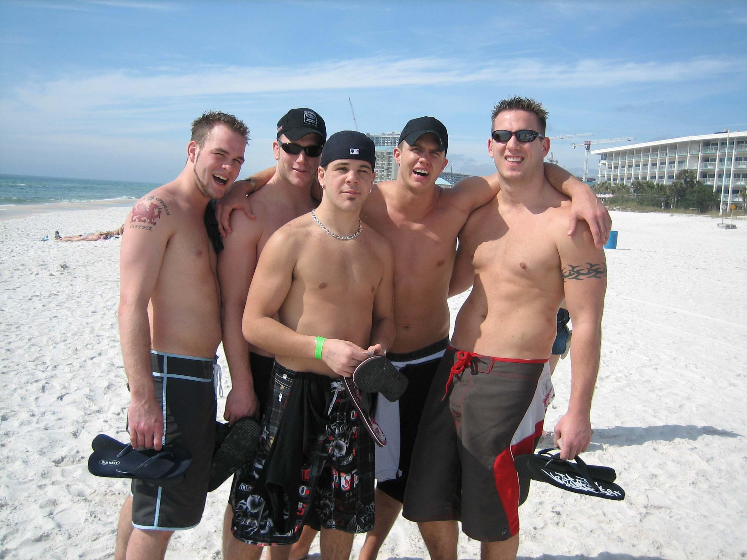 naked men on spring break