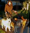 Sonia Alvarado with Bauer, Kato, Derby and Vago