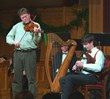 Fiddler Paul Woodiel and uilleann piper Christopher Layer perform a duet at the 2009 edition of the Pipes of Christmas. The beloved Celtic concert returns to the NY metropolitan area on Dec. 14 and 15.