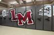Using end panel graphics, Lower Merion High School added school spirit to their sports equipment storage.