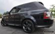 Land Rover Luxury SUV with PermaChrome PVD OEM Wheels in Black Chrome