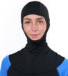 woman sun protection hood cover