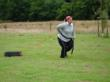 tyre puling at the weight loss boot camp