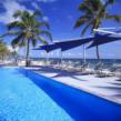 Oceanfront pool at Nisbet Plantation, Nevis