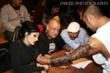 Amy Nicoletto and Halo judge the tattoo contests.