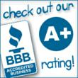 Rated A Plus by the Better Business Bureau