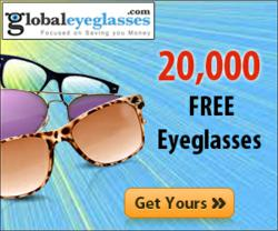20,000 Free Eyeglasses giveaway by GlobalEyeglasses.com