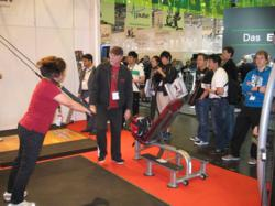 CrossCore180 Rotational Bodyweight Trainer was a major hit with trainers and fitness enthusiasts at the 2011 FIBO show in Germany.
