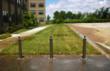 grass fire lane, paving, grass