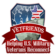 Official VetFriends.com logo. Visit VetFriends.com on Memorial Day 2015.