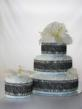 3 Tier Cake with Matching Centerpiece