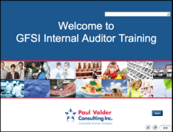 GFSI Internal Auditor Training
