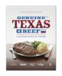 An in-store poster highlighting the new Genuine Texas Beef brand from Cargill and United Supermarkets