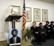 Photo: Balbir Singh Sodhi photo, Guru Roop Kaur Khalsa, a leader of Phoenix Sikh Community , Senator Hillary Rodham Clinton, Dr Jaswant Singh Sachdev, Rana Singh Sodhi, brother and son of Balbir Singh Sodhi, during a memorial event at Capitol Hill.