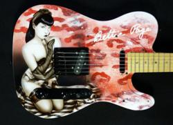 Officially Licensed Bettie Page Guitar