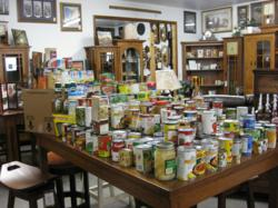 Weaver Furniture Sales Food Drive Collections