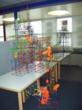 Glenfield Middle School's winning model, the NY Air Ball Roller Coaster