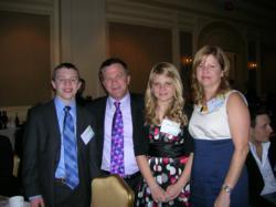 The Curry Family at NFTE Gala: Matt Jr,.Matt Sr., Jenna and Judy.
