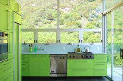 Green Cabinet Kitchen