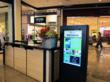 CAYIN Digital Signage at the concierge in the Ayala malls