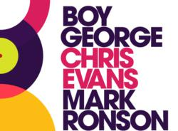 Three Friday Nights logo: Boy George, Chris Evans, Mark Ronson