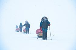 The explorers on the Arctic Ocean