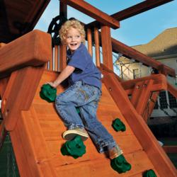 Rock wall option for Swing Sets
