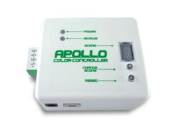The Apollo LED DMX Color Controller is compact in size and portable.